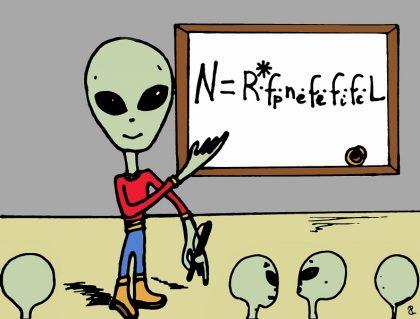 alieno con equazione di drake